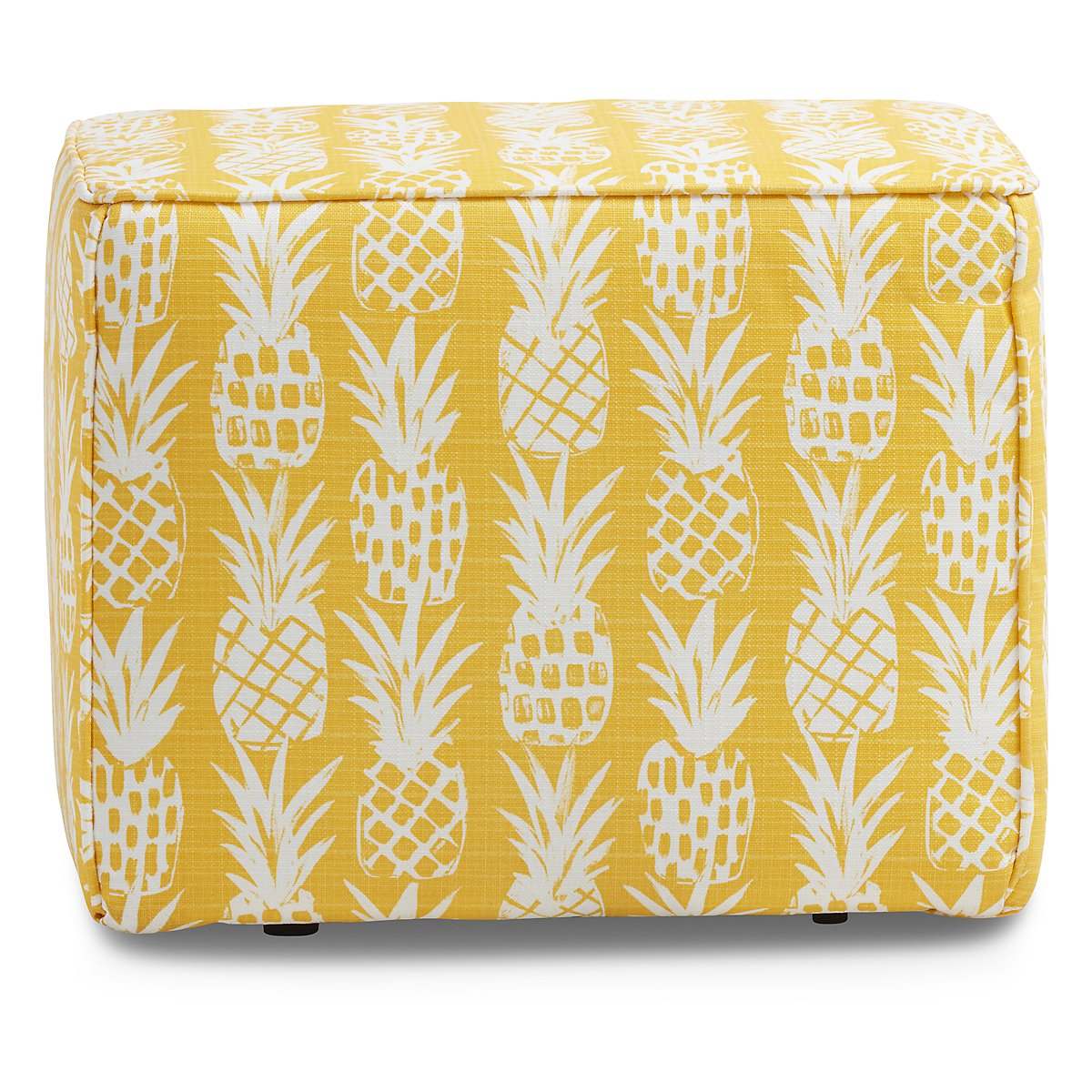pineapple yellow fabric indoor outdoor accent ott table small patio with chairs diy umbrella stand for balcony oval glass top new coffee black corner computer desk hutch sauder