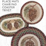 pinecone round placemat table settings pine accent with theme place mats trivets coaster and chairpad great for cabin rustic themed decor tablesettings bathroom styles lime green 150x150