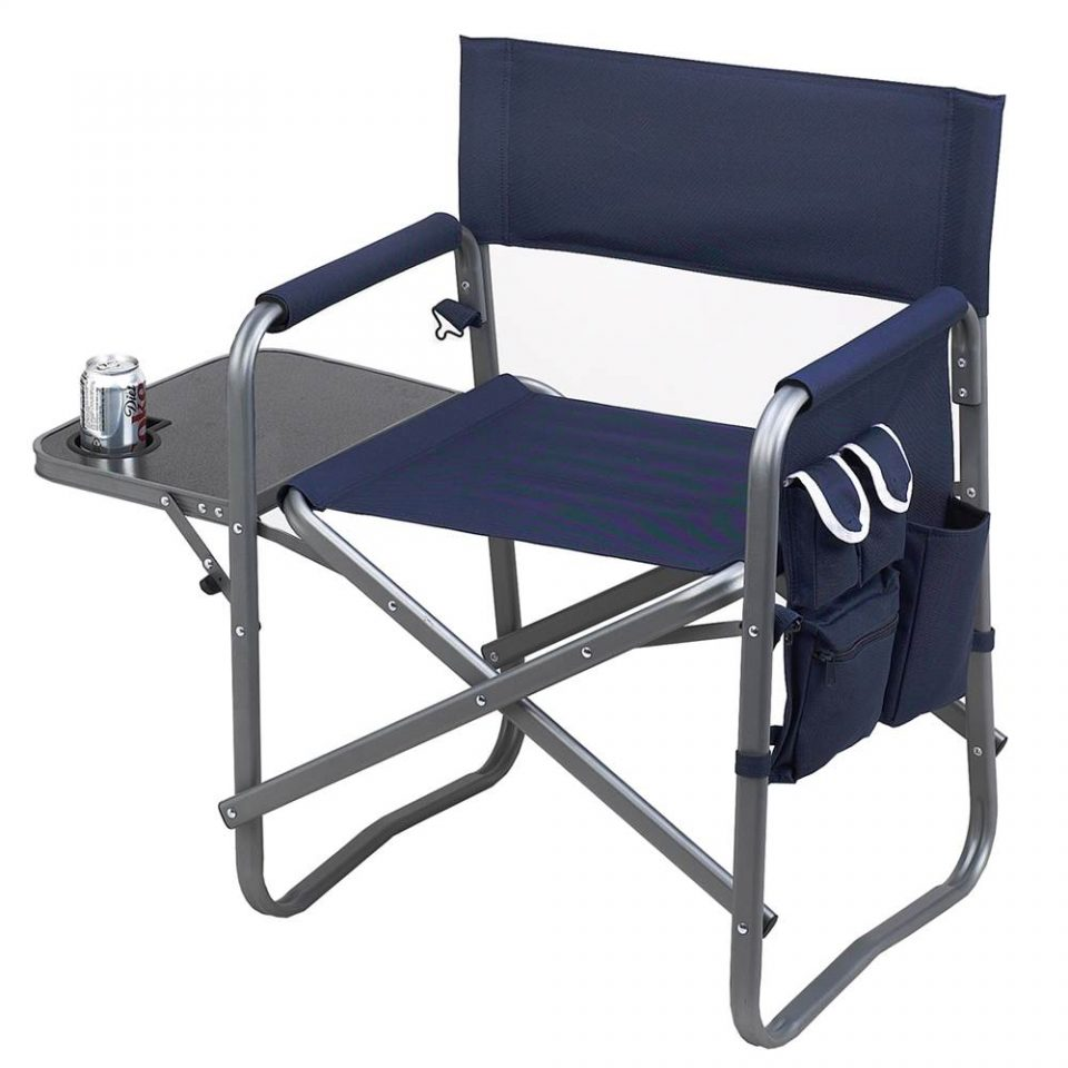 pink camo camping chair with side table and cooler topticketsinc deluxe sports navy blue directors swivel asda double attached outdoor outside patio cover adjustable furniture
