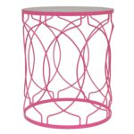 pink metal accent table free shipping today silver coffee bronze patio side moroccan drum mirrored occasional giant wall clock leadlight lamps teal white wicker blue lamp shade 150x150