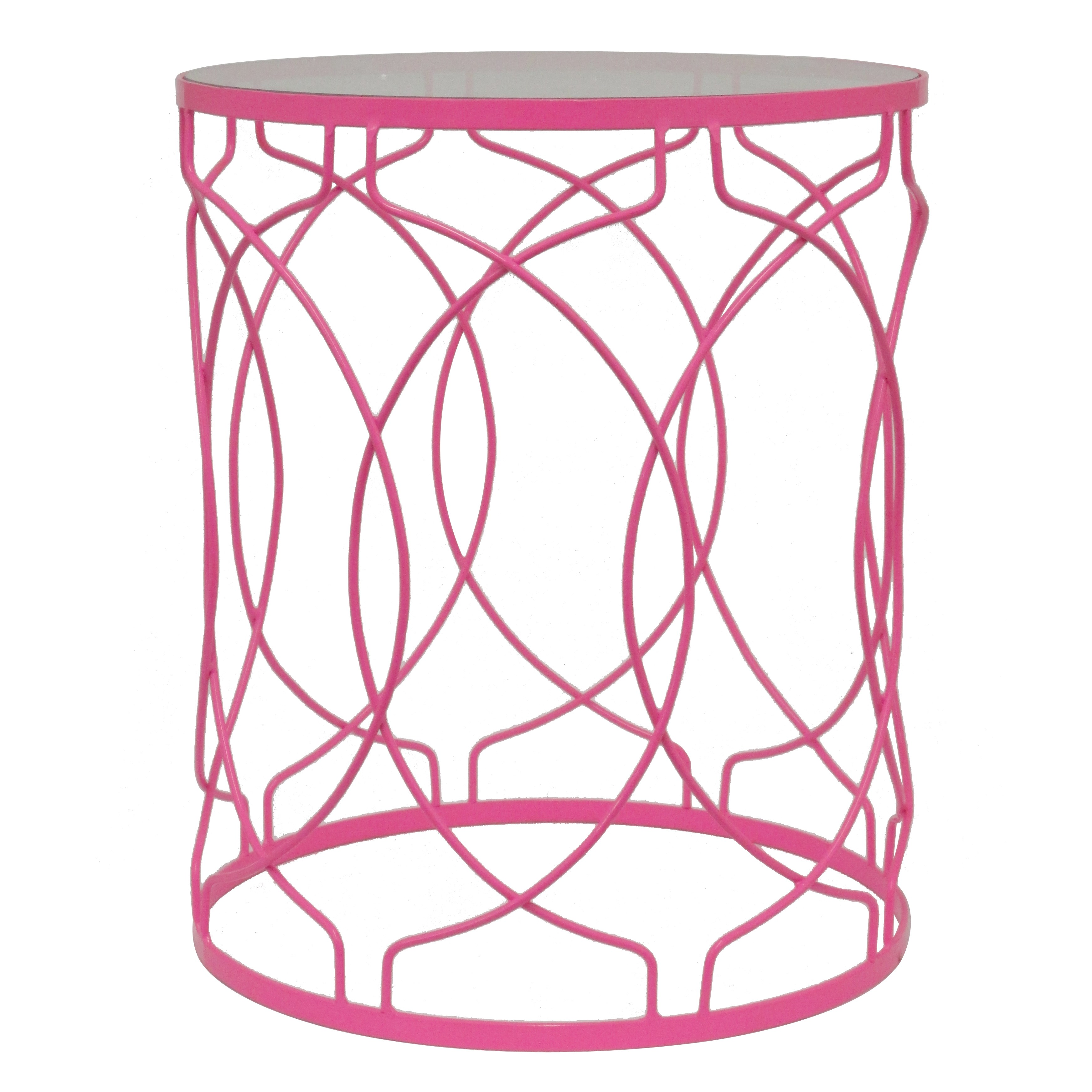 pink metal accent table free shipping today silver coffee bronze patio side moroccan drum mirrored occasional giant wall clock leadlight lamps teal white wicker blue lamp shade