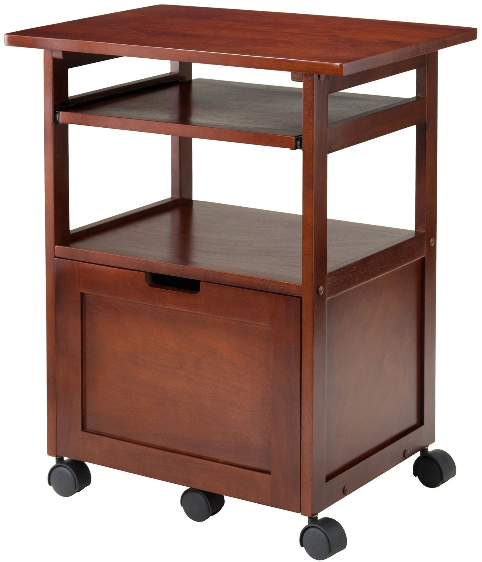 piper walnut printer stand with keyboard from winsomewood coleman winsomewoods winsome wood accent table red wingback chair unfinished bedside console drawers pottery barn rattan