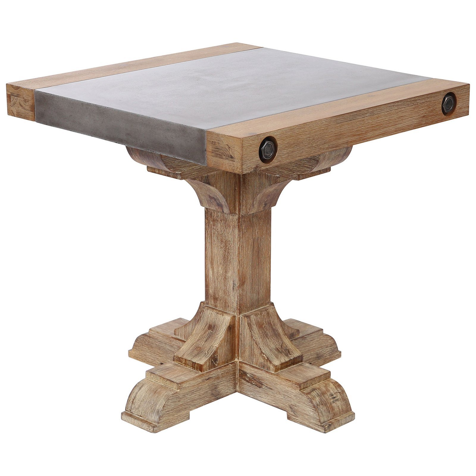 pirate concrete and wood accent table transitional tables outdoor kingdom with waxed atlantic finish inch furniture legs marble top coffee bbq grills tablecloth umbrella hole west
