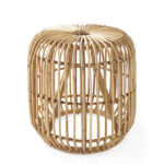 pismo rattan side table serena lily dira stool natural crop wicker storage accent industrial end diy battery operated dining room light bar height bistro set patio and chair 150x150