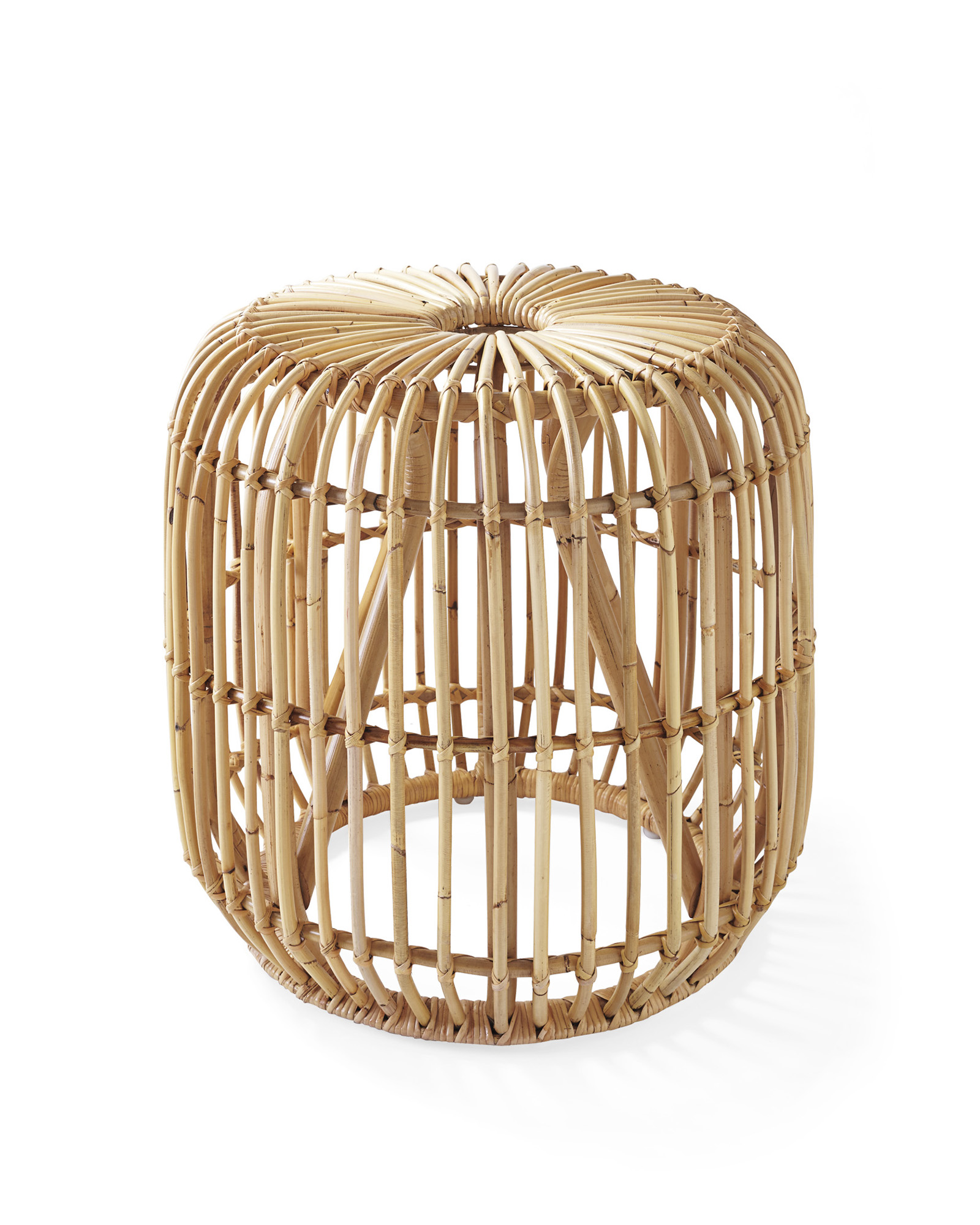 pismo rattan side table serena lily dira stool natural crop wicker storage accent industrial end diy battery operated dining room light bar height bistro set patio and chair