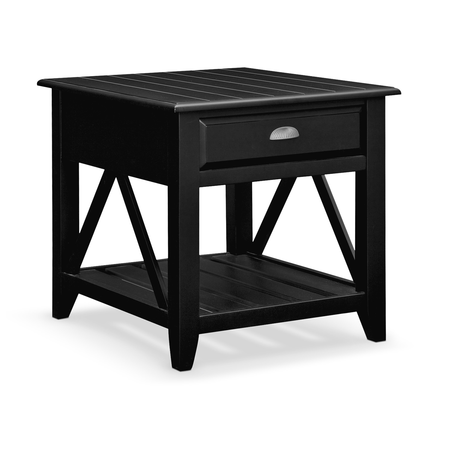 plantation cove coastal end table black value city furniture and small rectangular accent click change glass sofa side mid century modern wooden trestle bunnings with charging