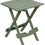 plastic outdoor side table sage resin quick fold lightweight patio adams manufacturing quik sid res small square pedestal inch vinyl tablecloth wooden farmhouse light shades half 150x150