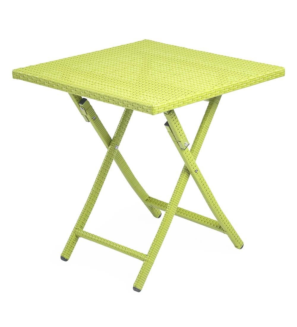 plow hearth tangier folding wicker side table yellow outdoor accent target desks and chairs porch furniture turquoise coffee farmhouse oval glass top new light pink chair lucite