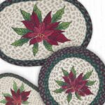 poinsettia oval table runner settings accent placemat placemats round and with design red green trim christmasdecor christmas countryliving countryhome cast aluminum side wrought 150x150
