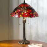 poinsettia tiffany table lamp plowhearth miniature accent lamps steel coffee outdoor grill west elm mirrored side bombay company furniture conversation sets pottery barn black 150x150