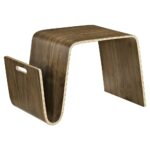 polaris wood coffee table magazine racks walnut dcg eei wal end with rack two drawer affordable mid century modern furniture marble top and tables cool bedside decorations accent 150x150
