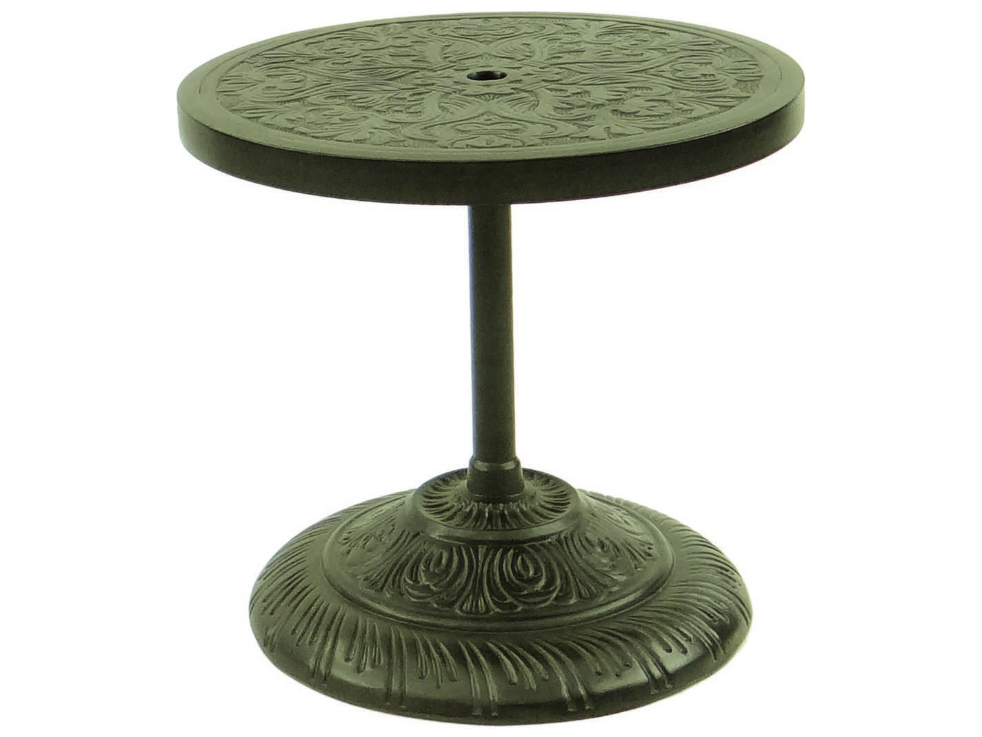 polished aluminum side table professional party rentals target gold castelle cast round umbrella base outdoor stand wooden threshold strips for carpet height diy rustic coffee and