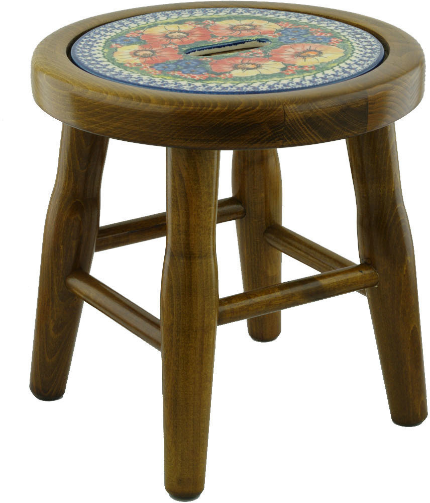 polmedia mystical garden polish pottery accent stool table dale lamps white and brown end west elm mid century rug barn dining chairs foyer chest jcpenney console brass nightstand