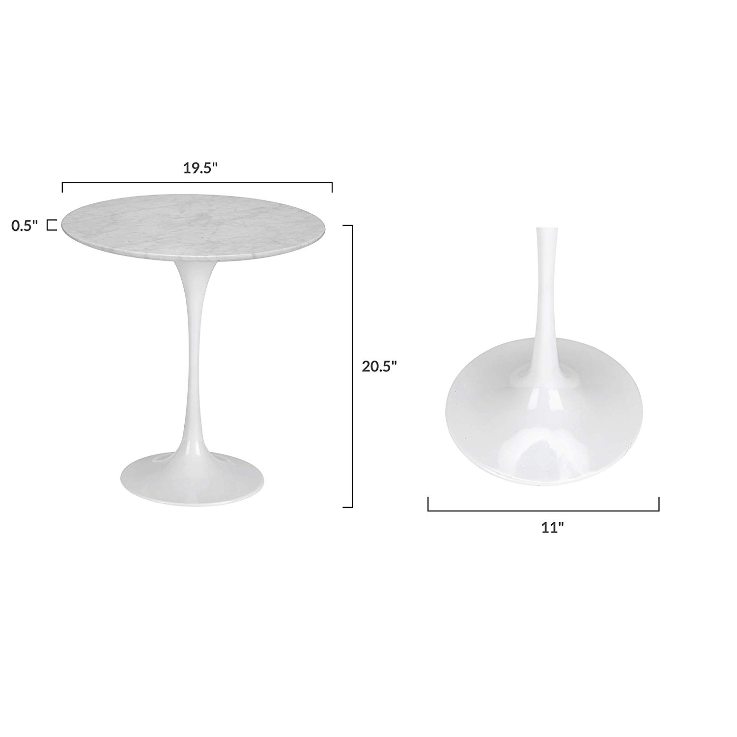 poly and bark daisy marble side table white base hdusjlql signy drum accent with top kitchen dining dinner lamp sets blue striped patio umbrella acrylic night homemade outdoor