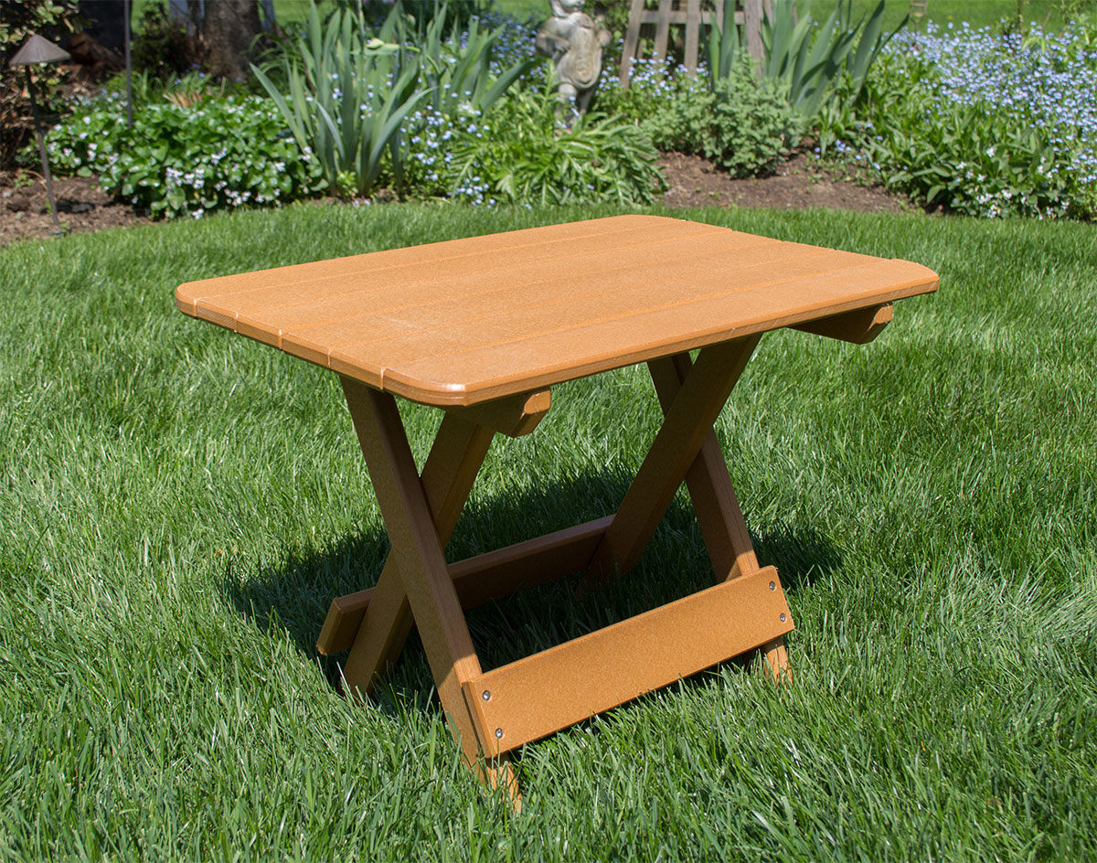 poly lumber folding accent table outdoor brown metal coffee hairpin leg chair mirror cabinet round with sides hollywood glam furniture linen dinner placemats card tablecloth size
