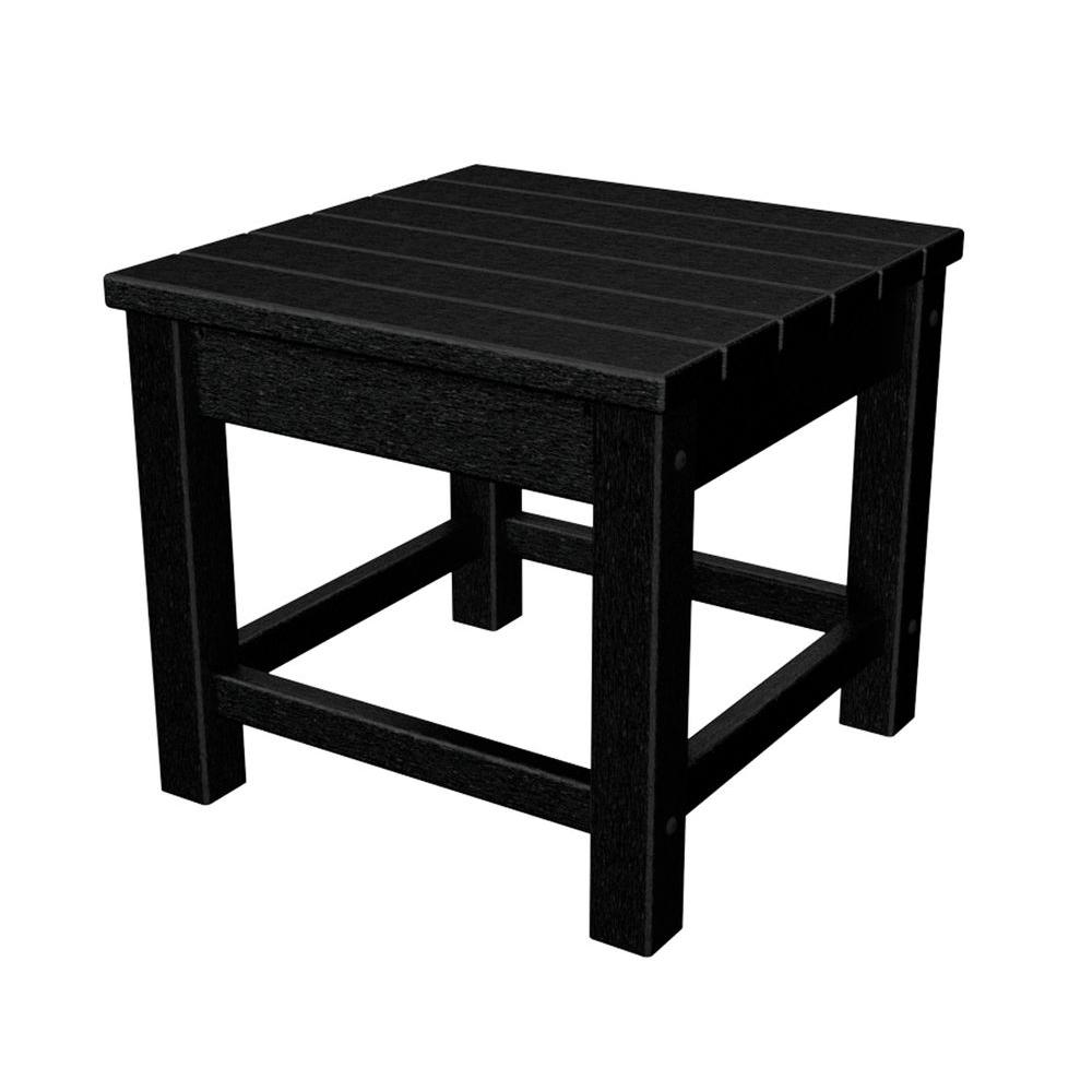polywood club black patio side table the outdoor tables accent inch coffee for sectional pieces bedroom modern concrete white linen placemats asian bedside lamps pink round