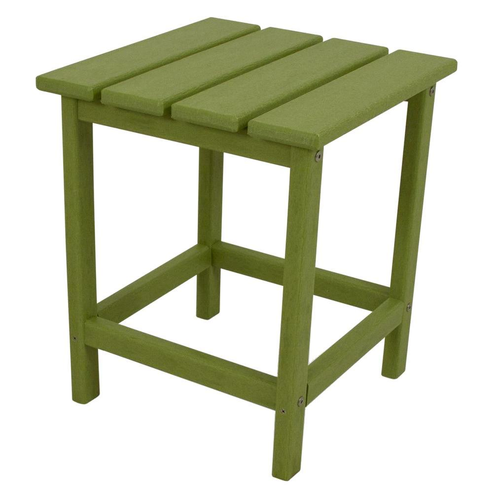 polywood long island lime patio side table the home outdoor tables green furniture covers white counter height backyard cooler wood farmhouse barn door bar gold metal and glass