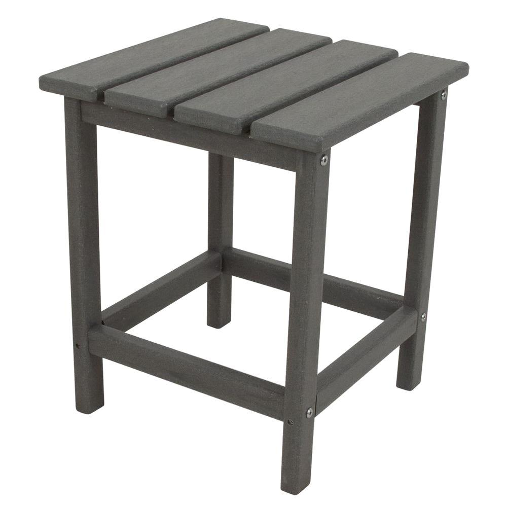 polywood long island slate grey patio side table outdoor tables next mirrored marble top coffee with drawers wine stoppers target indoor nautical ceiling lights nightstand under