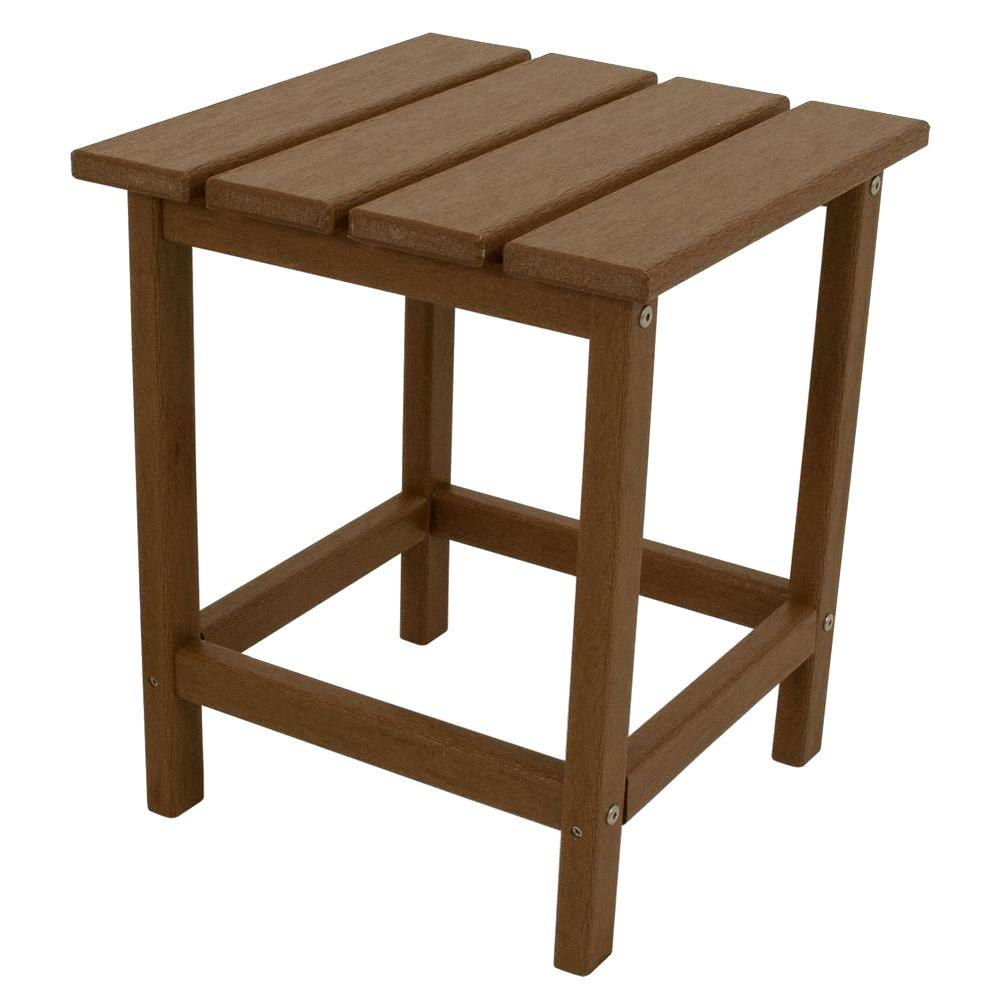 polywood long island teak patio side table the home outdoor tables vintage metal bedside hallway furniture desk gold antique rectangular oval big modern toronto target accent