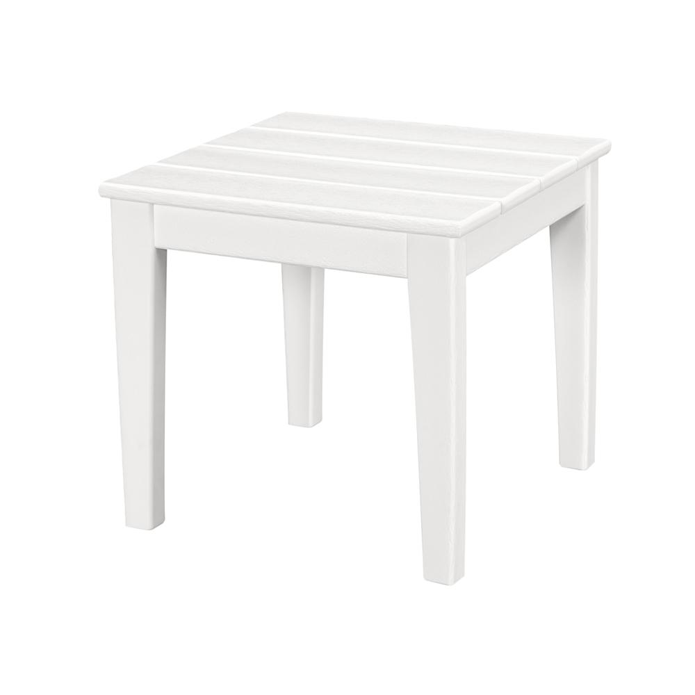 polywood newport square plastic outdoor side table tables white accent repurposed coffee ashley living room small bunnings bench tile patio farmhouse legs frames vancouver gray