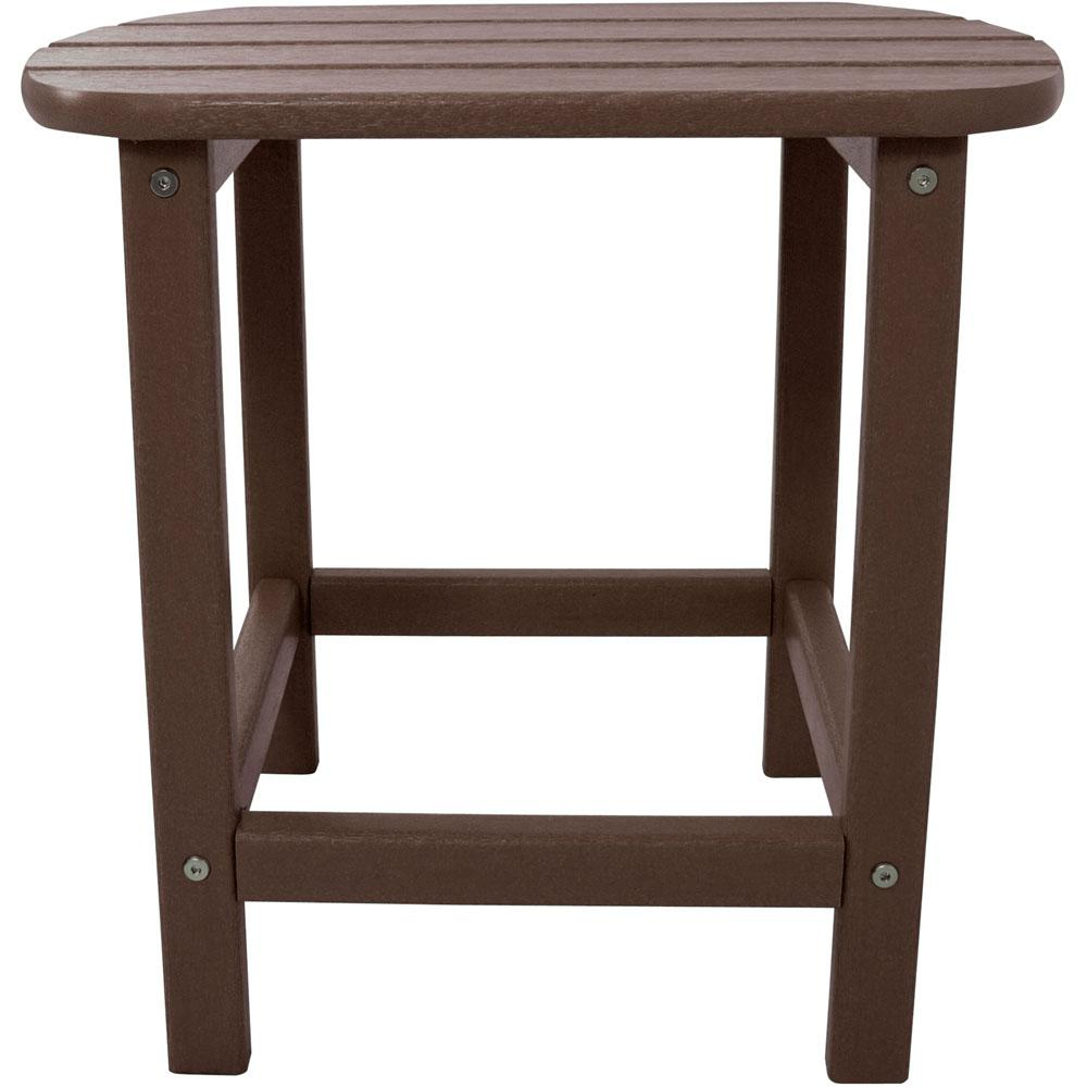 polywood outdoor side tables patio the hanover baroque accent table mahogany all weather coffee set sets full danish furniture wicker with storage carpet trim large cloth