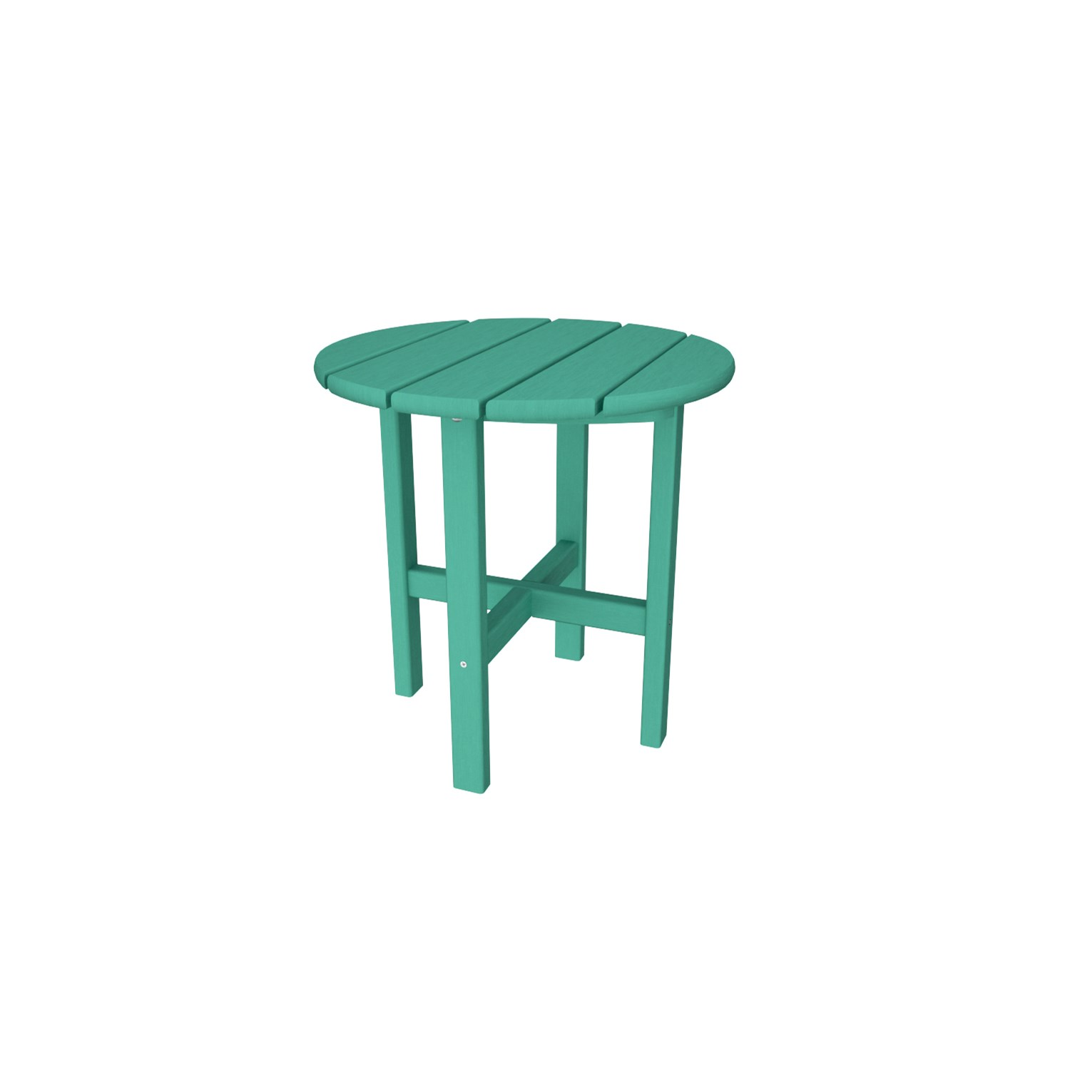 polywood round outdoor side table the simple white green tap expand backyard cooler bathroom furniture covers modular bedroom monarch specialties hall console wine bar next dining