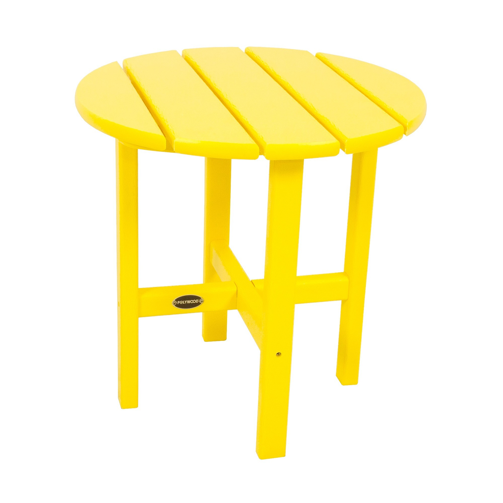 polywood round patio side table yellow products outdoor plastic beechwood end accent cherry light shades wooden farmhouse target white coffee mixed material aluminum legs