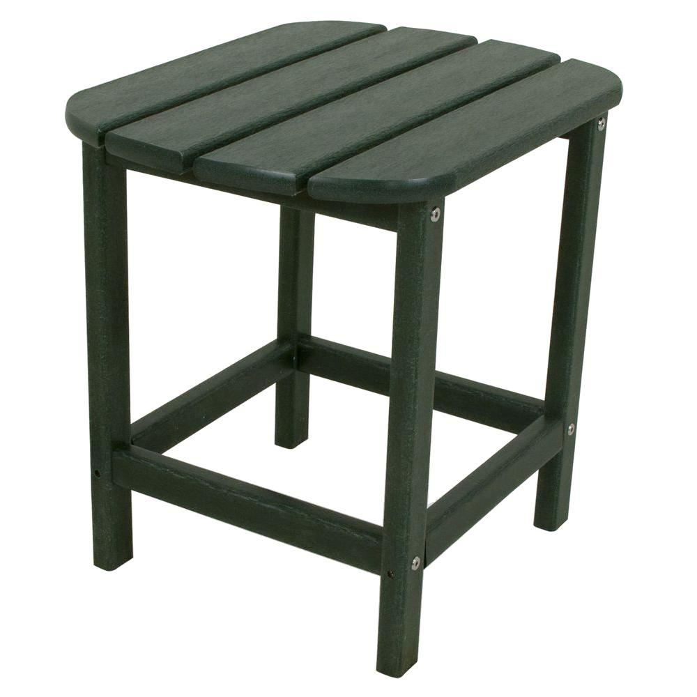 polywood south beach green patio side table the outdoor tables cherry corner accent white counter height winsome wood next dining room furniture small student desk bistro dark