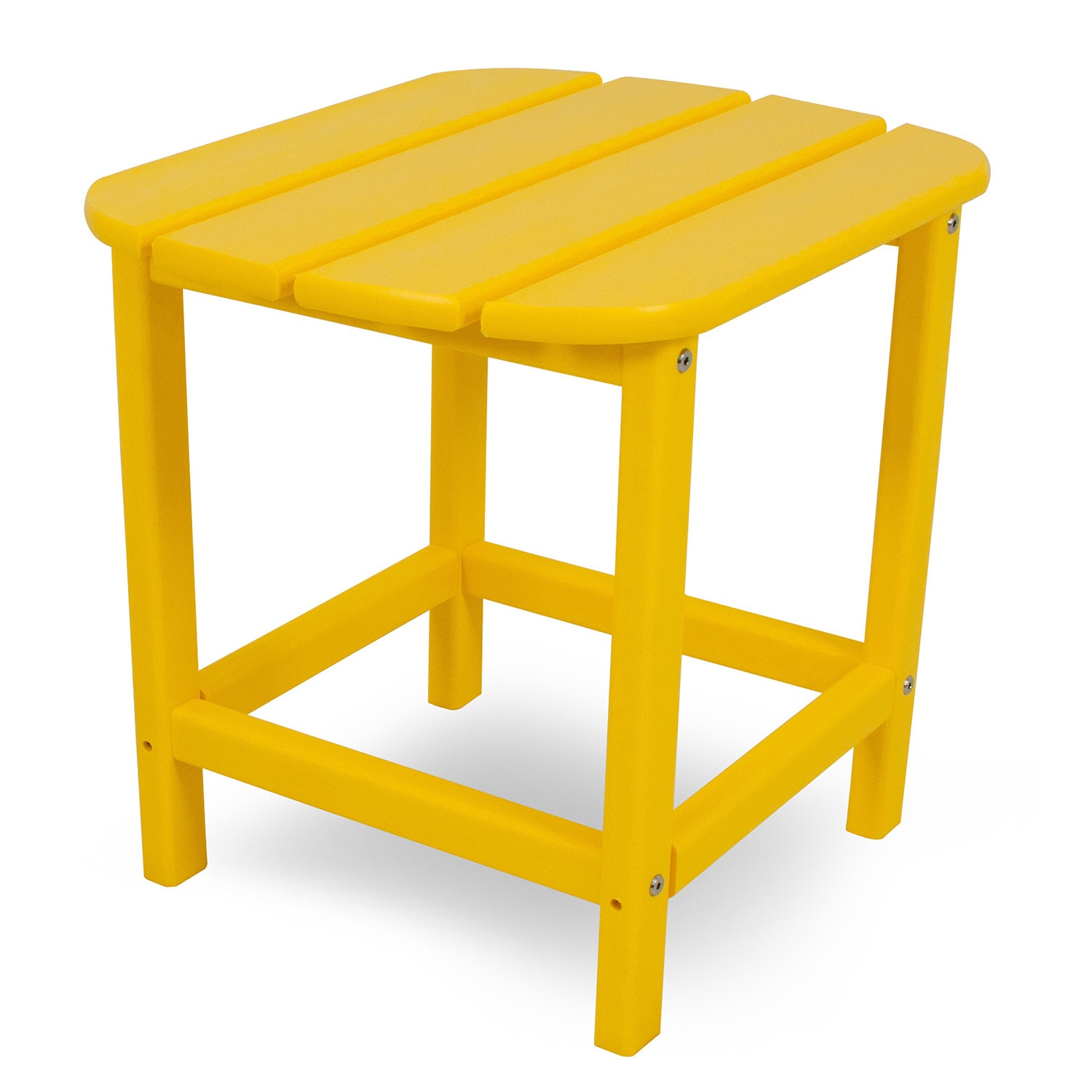 polywood south beach inch outdoor side table pacific blue yellow accent lemon patio furniture shaped office desk ikea lamp shades reclaimed wood round porch small lounge