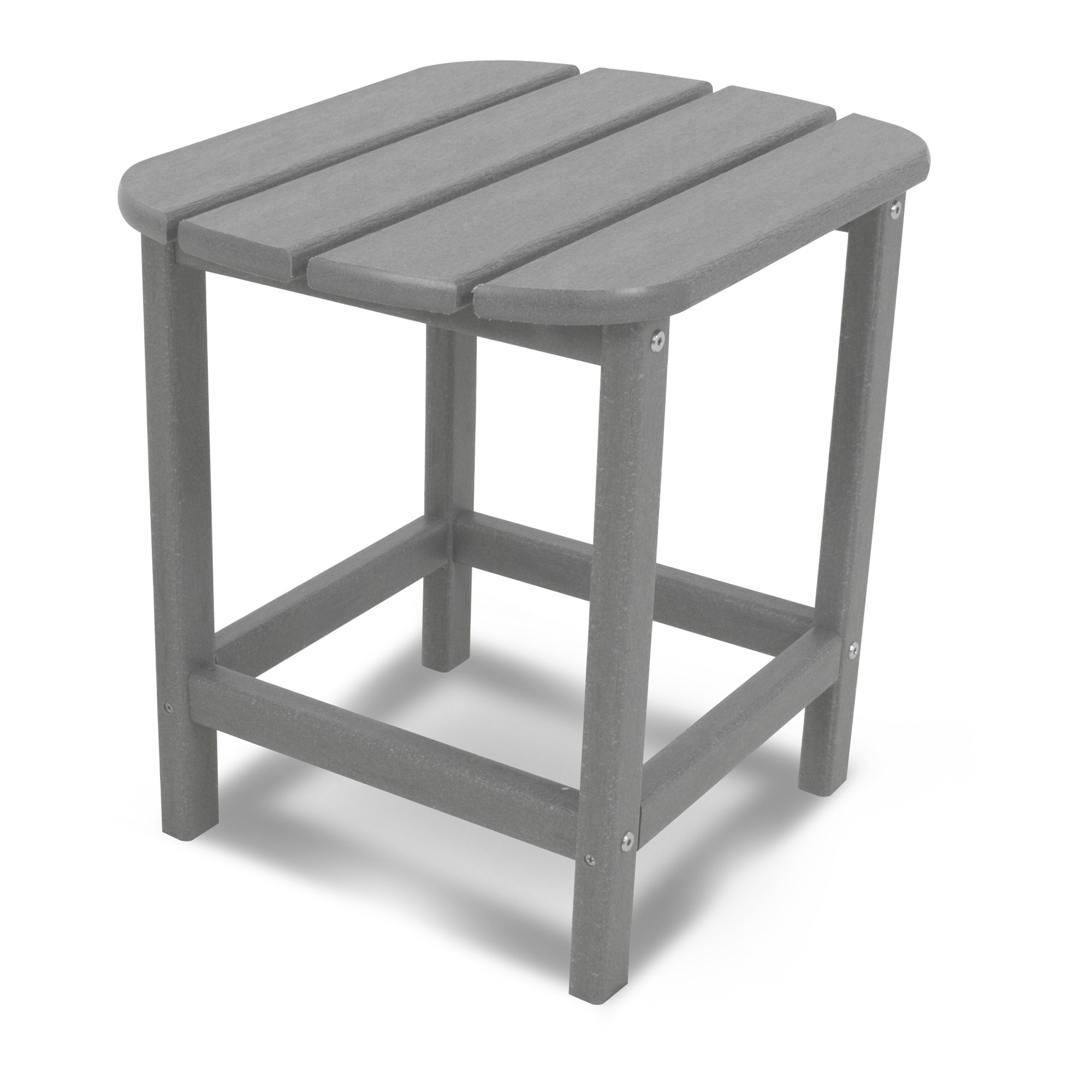 polywood south beach patio side table gray outdoor semi circle hall backyard umbrella stand corner chests cabinets jcpenny bedding ryobi ashley furniture vennilux coffee changing
