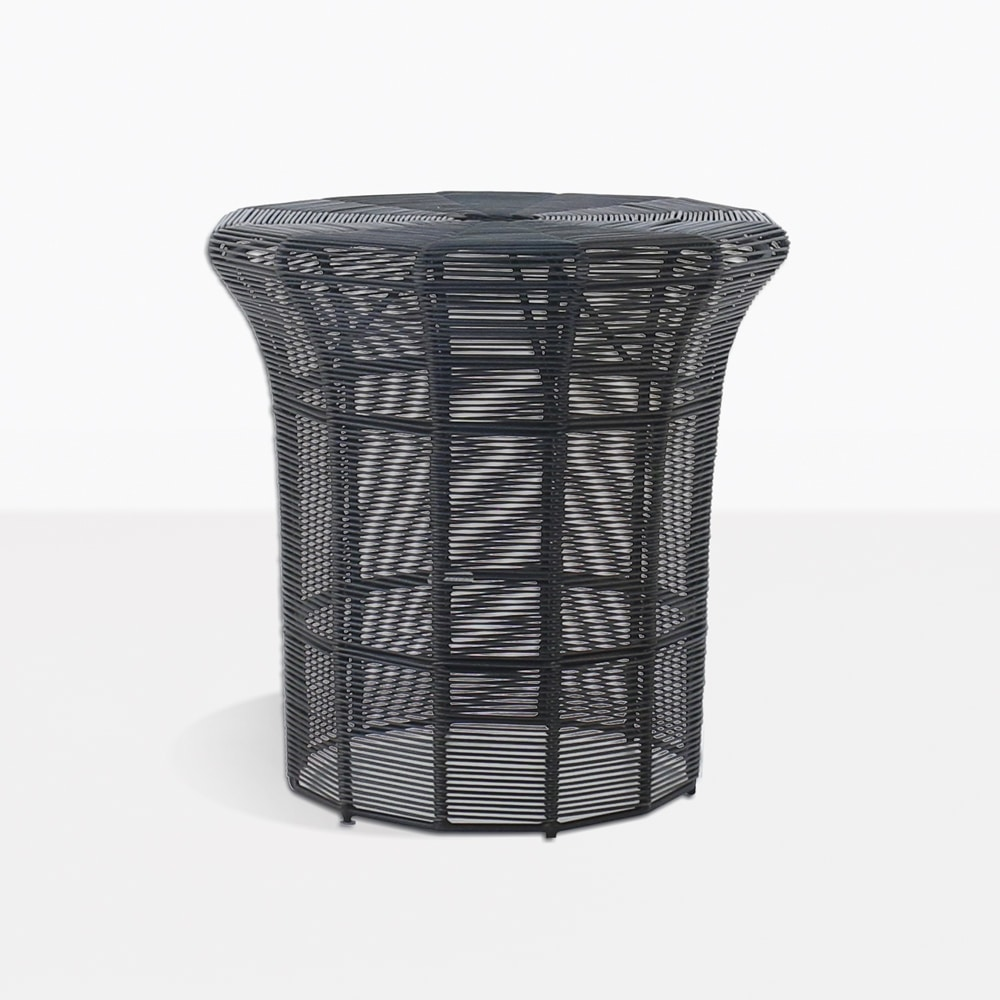 poppi outdoor side table tall black teak small square accent hampton bay wicker furniture ikea lack coffee bedroom dinette and patio edmonton windham collection pine plastic