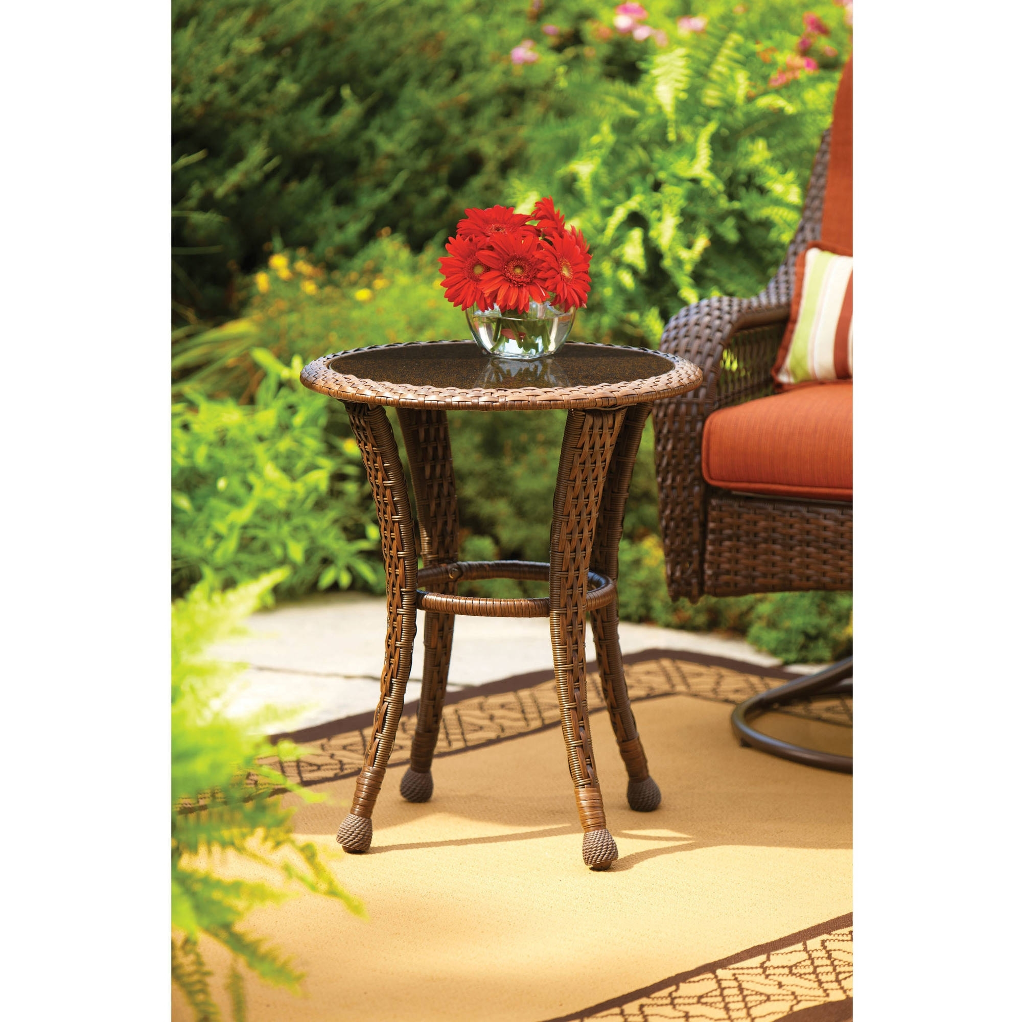 popular patio umbrellas with accent table better homes and gardens azalea ridge round outdoor side regarding widely used umbrella all wood sofa velvet furniture home goods chairs