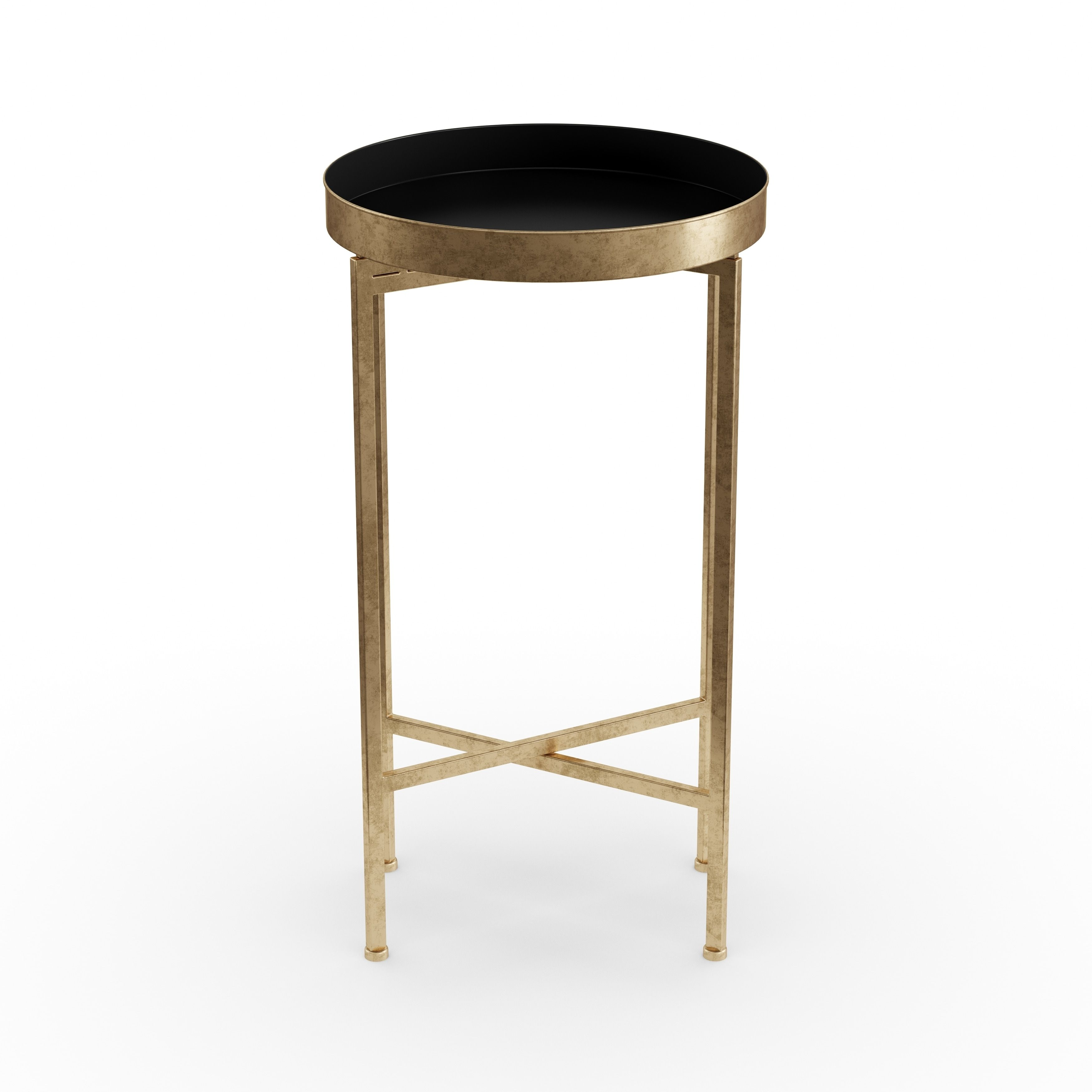 porch den alamo heights zambrano round metal foldable tray accent table black bedside with drawer target white lamp wooden barn sliding door hardware outdoor shelf end attached