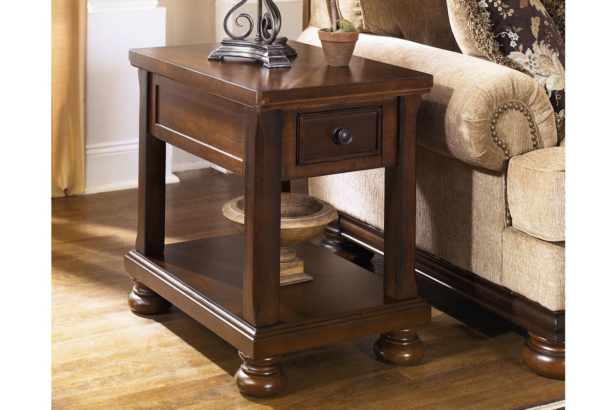 porter chairside end table ashley furniture home crop wood accent five below funky tables chinese coffee contemporary garden decoration design gold restoration hardware cloud sofa