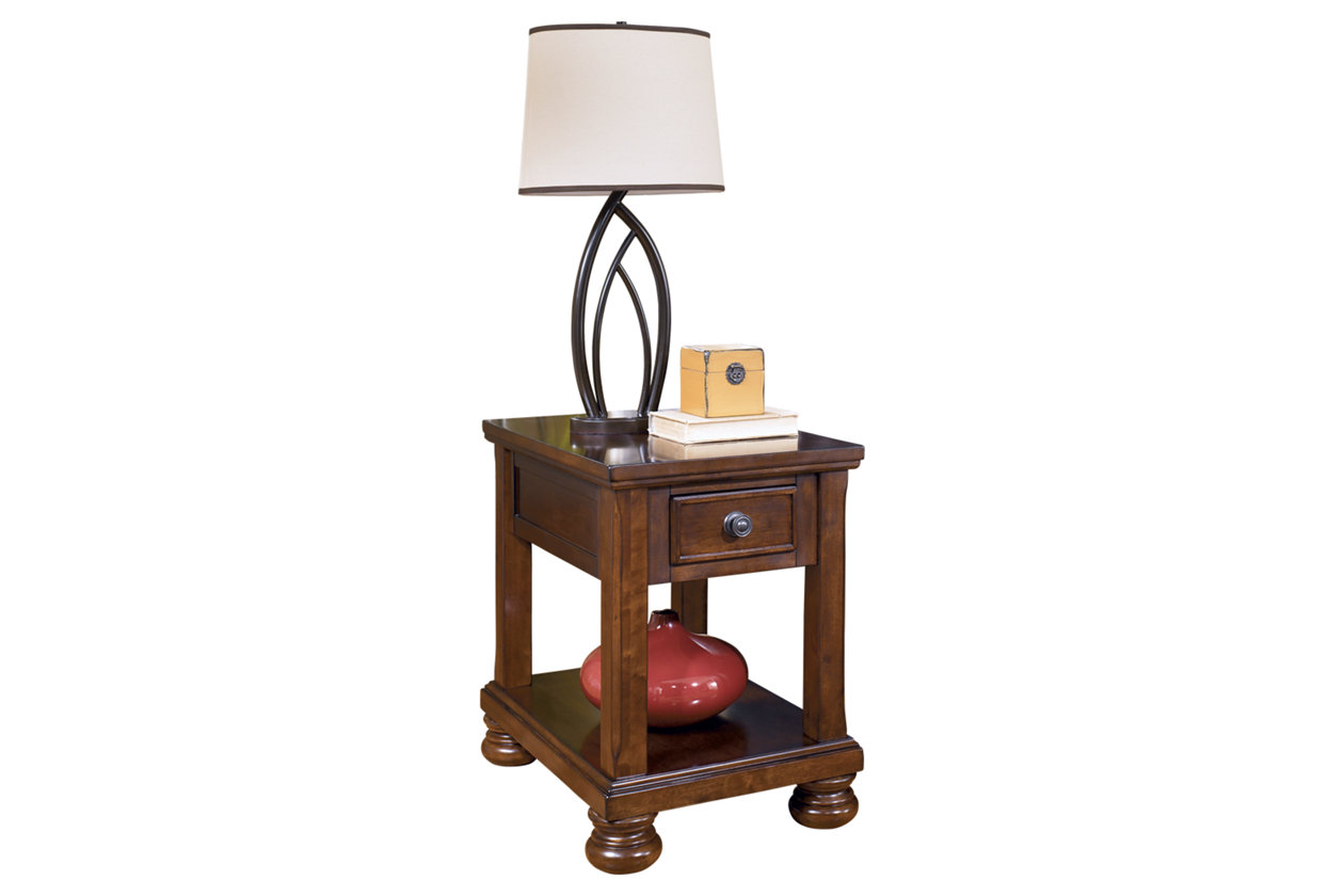 porter chairside end table ashley furniture home wood accent five below all tables small white round homesense bar stools hampton bay lawn gold chinese coffee entryway console