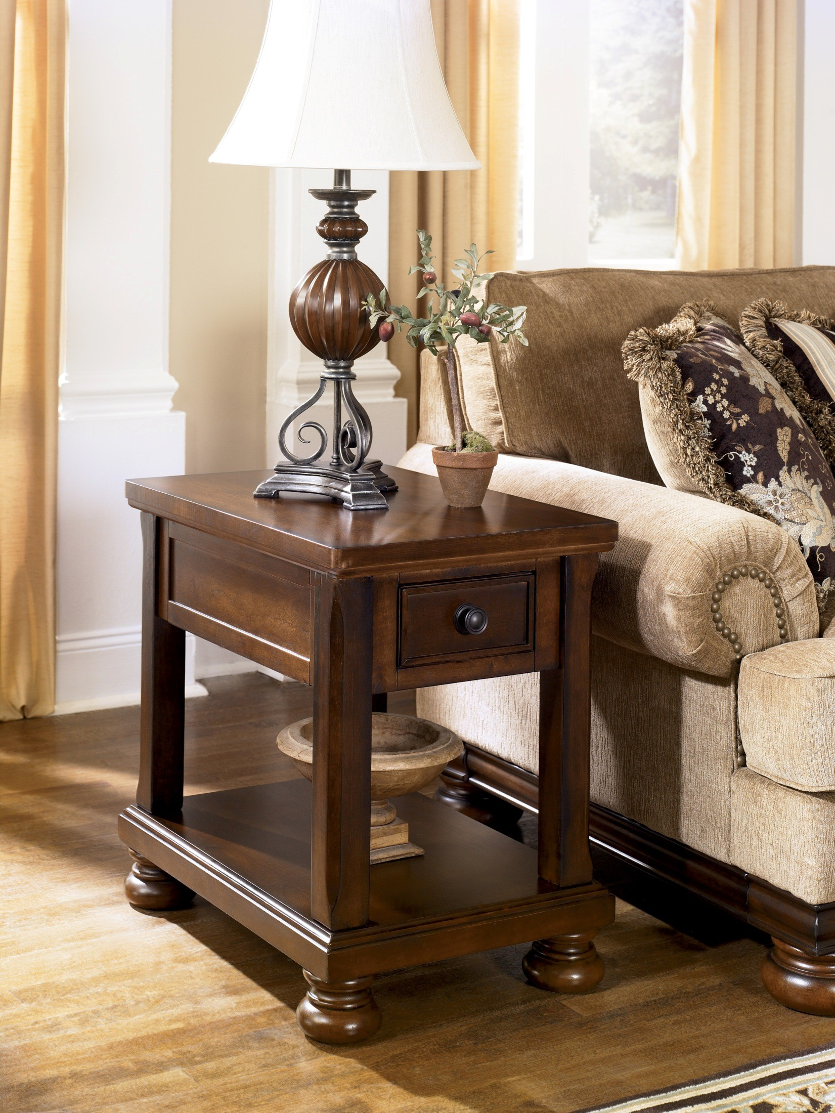 porter chairside end table from ashley coleman acrylic accent furniture tables lamp with storage nautical sconces indoor lighting mirrored occasional knotty pine pier one imports