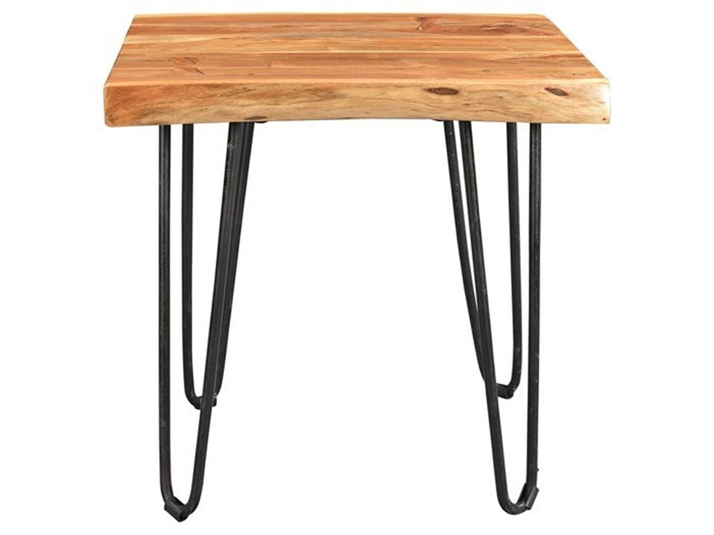 porter international designs mojave live edge solid wood end table products color hairpin leg accent mojaveend target entryway furniture blue chair with ott industrial look tables