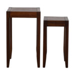 pottery barn block wooden nesting tables rustic pedestal accent table low narrow dining room cupboard venetian bedside cover oval shape two door cabinet patio chairs and side drop 150x150