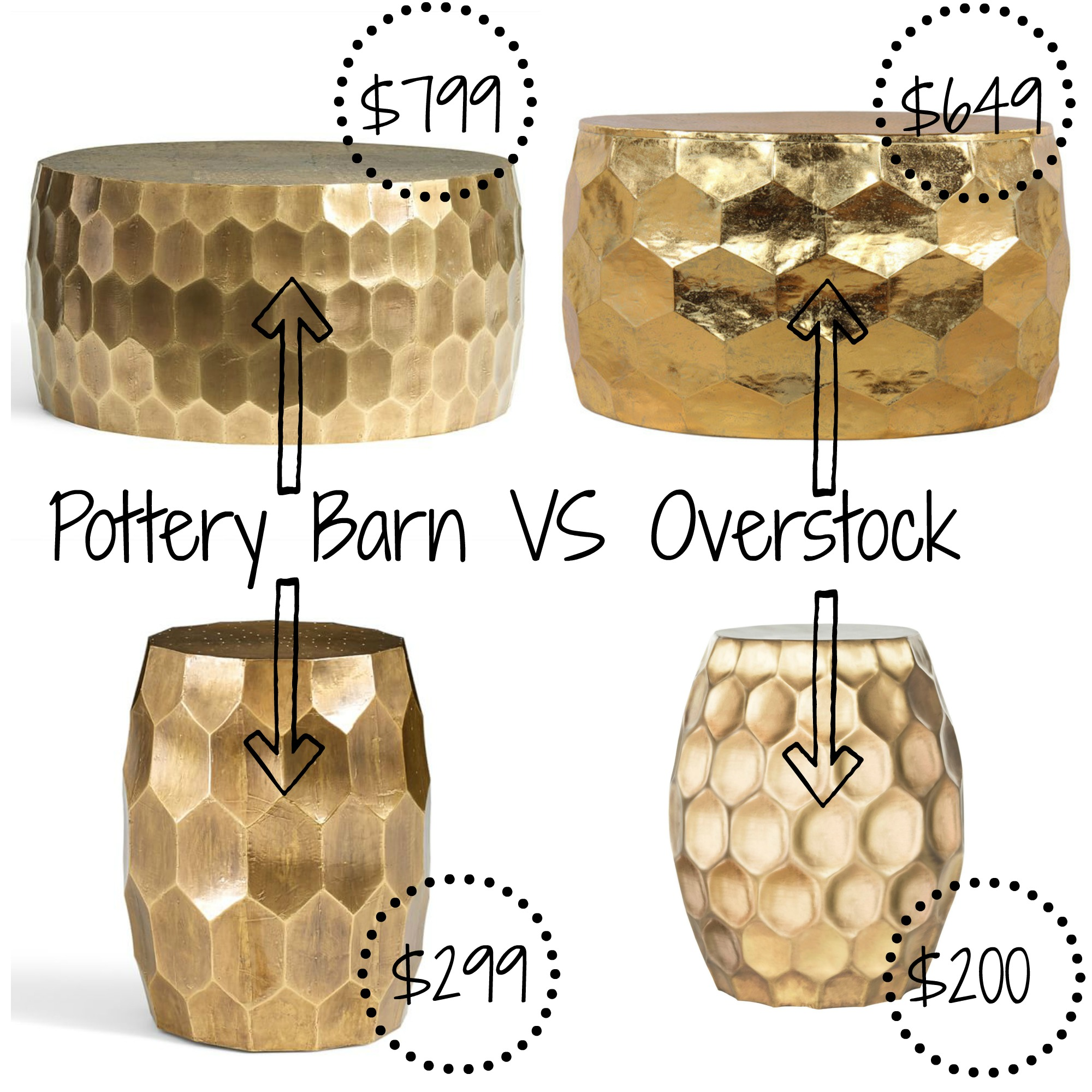 pottery barn decor look alikes metaltablecollage flower accent table vintage metal clad tables baroque round decorative tablecloth adjustable furniture legs nautical themed end