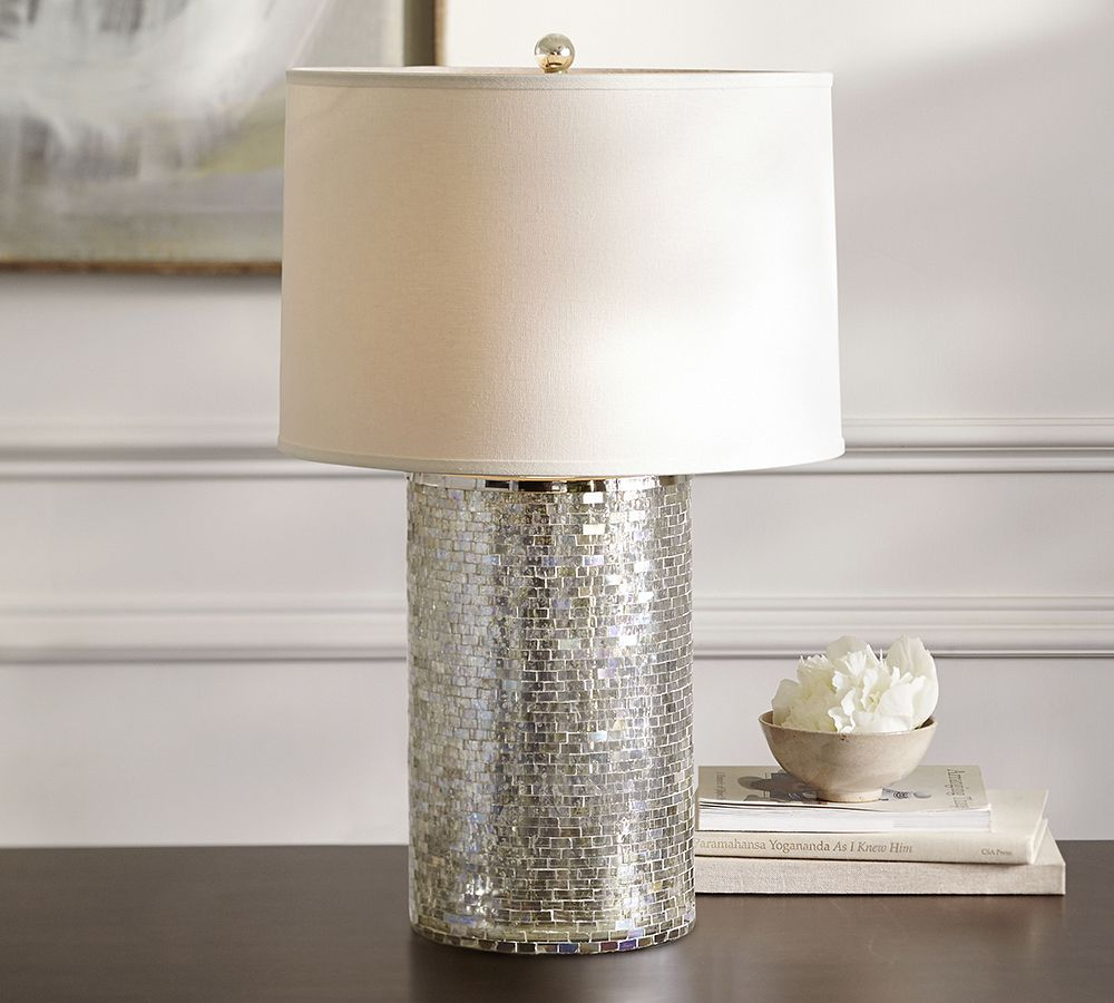 pottery barn glass lamp mirror glamorous mirrored accents for your home accent table lamps black console inn white bedside tables target leather recliner chairs nate berkus round