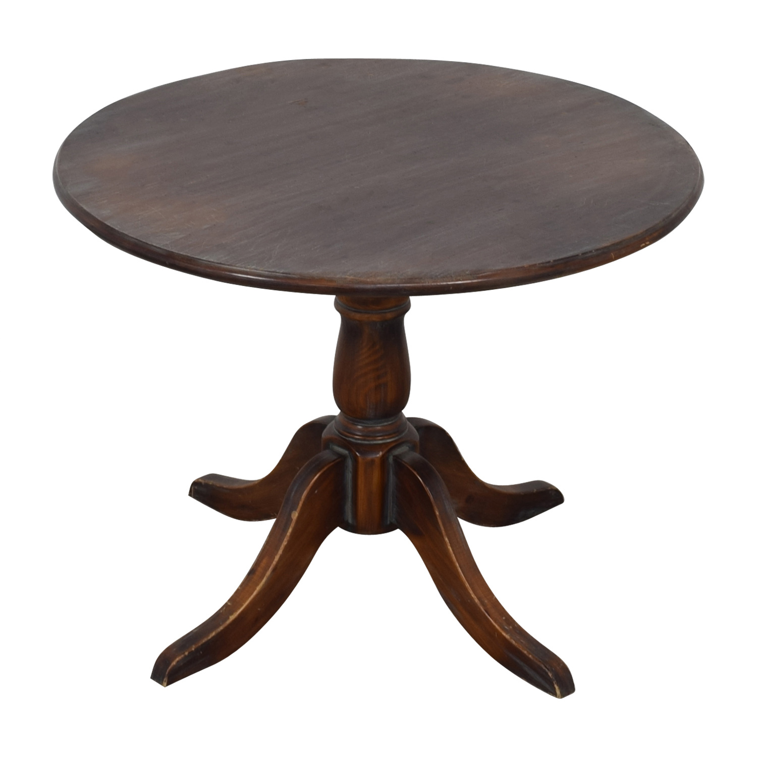 pottery barn round wood pedestal dining table used rustic accent coupon best bedside target night light console furniture nautical entry day half moon narrow kitchen purple corner