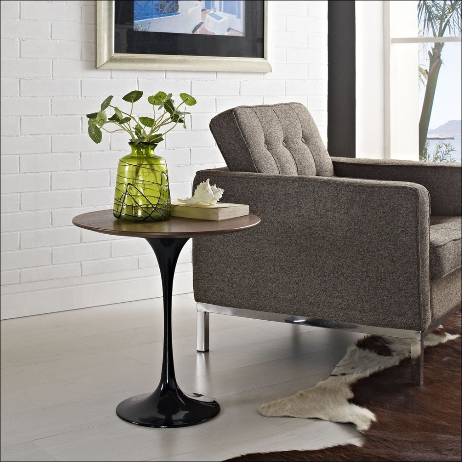pottery barn side table probably super best the black living room mini with glass top simple plywood round end grey fabric single tufted sofa white brick stone paint wall wooden