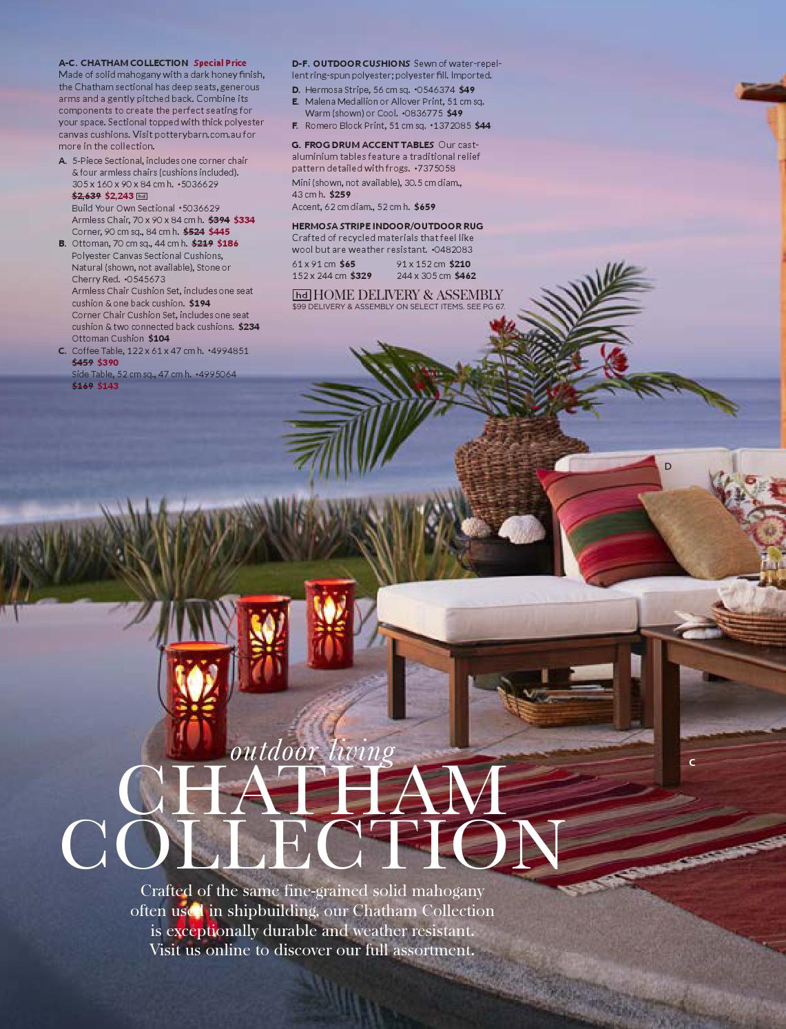 pottery barn summer catalogue williams page frog drum accent tables sonoma inc issuu white table solid wood sofa antique side water filter runner and placemats decorative wine