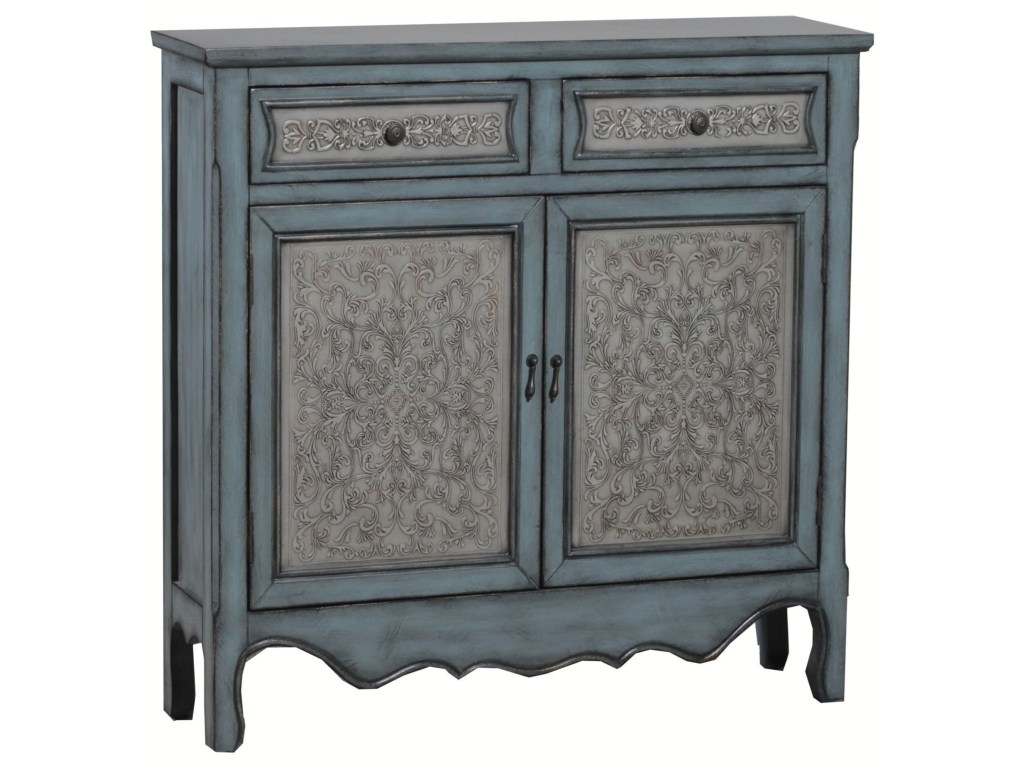 powell accent furniture antique blue white console colder products color table mini patio umbrella oval coffee decor pine trestle the living room hairpin legs childrens nic glass