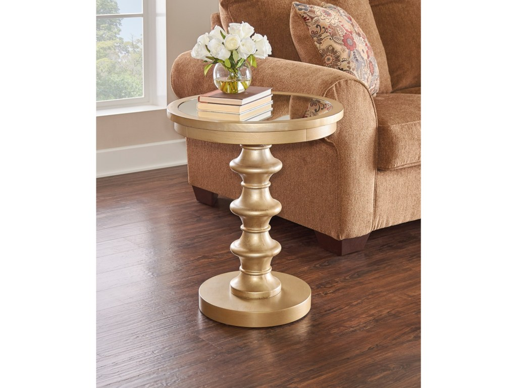 powell accent furniture axel glamour table miller products color galvanized metal furnitureaxel modern legs glass knobs black pedestal side boston target gold drum cast aluminum
