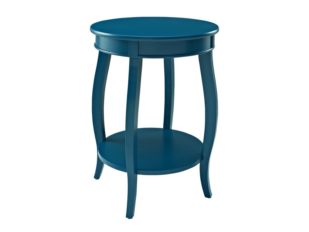 powell accent tables round table shelf wayside furniture end products color aqua blue tablesround outdoor glass top side small cherry brown wicker contemporary chandeliers art