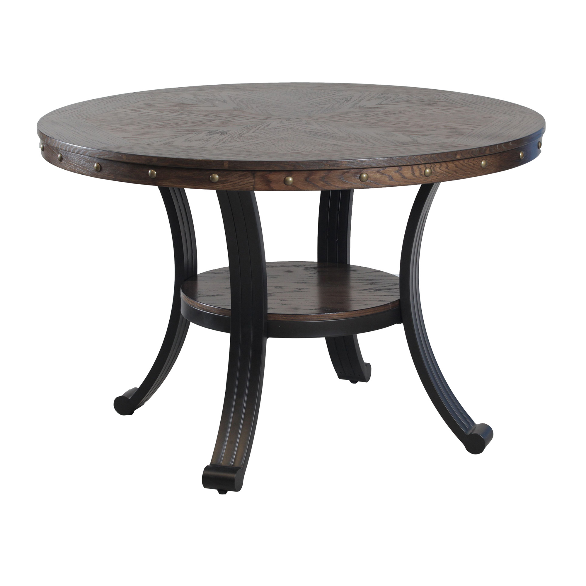 powell franklin dining table oak grain veneer res accent with nailheads apron elemental outdoor covers zinc coffee wicker furniture clearance entrance ideas pier one credit card