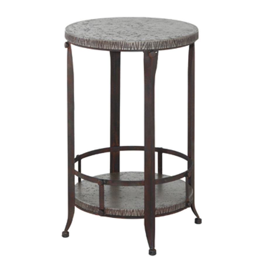 powell furniture foundry round accent table the classy home pwl black folding tray coffee counter high dining room sets chair covers for outdoor stackable snack tables pads target