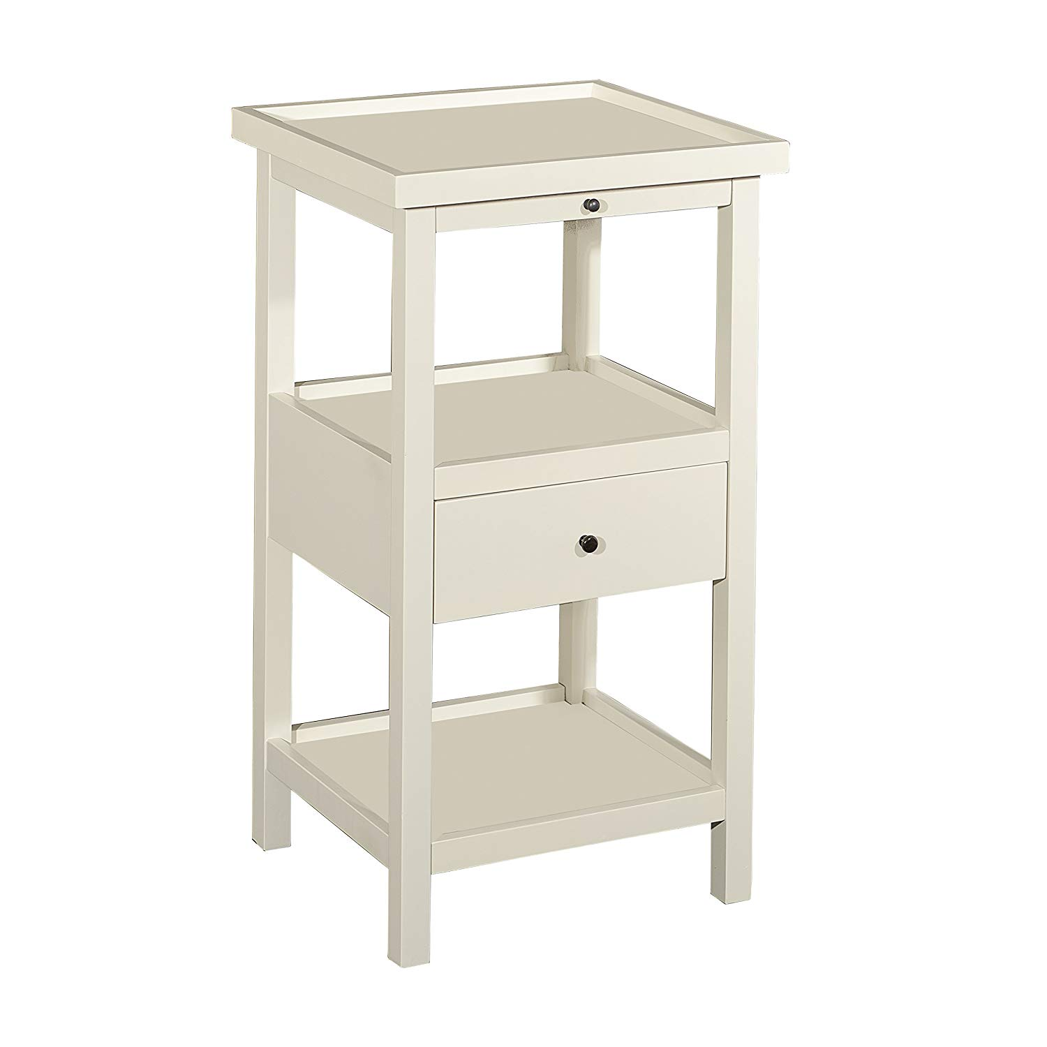 powell furniture palmer white shelf side table small accent with shelves kitchen dining mercers outdoor fireplace livingroom tables west elm patio and chairs breakfast room