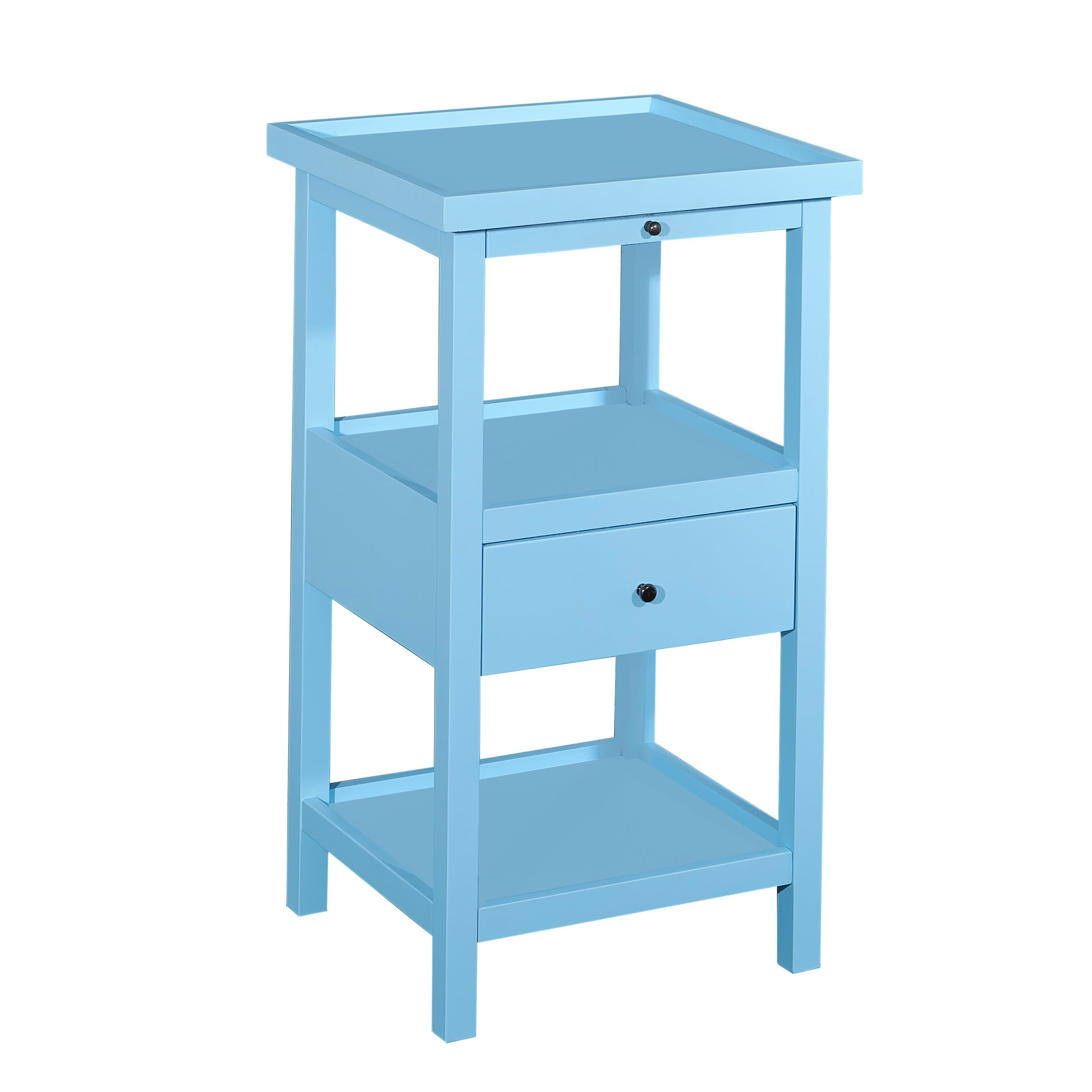 powell palmer ocean blue wood accent table with shelf free lighting seattle shipping today metal patio and chairs marble end tables pier one runner lucite nesting target ethan